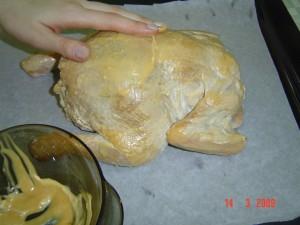 вторая смазка курицы