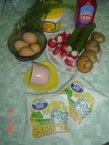 окрошка ингредиенты