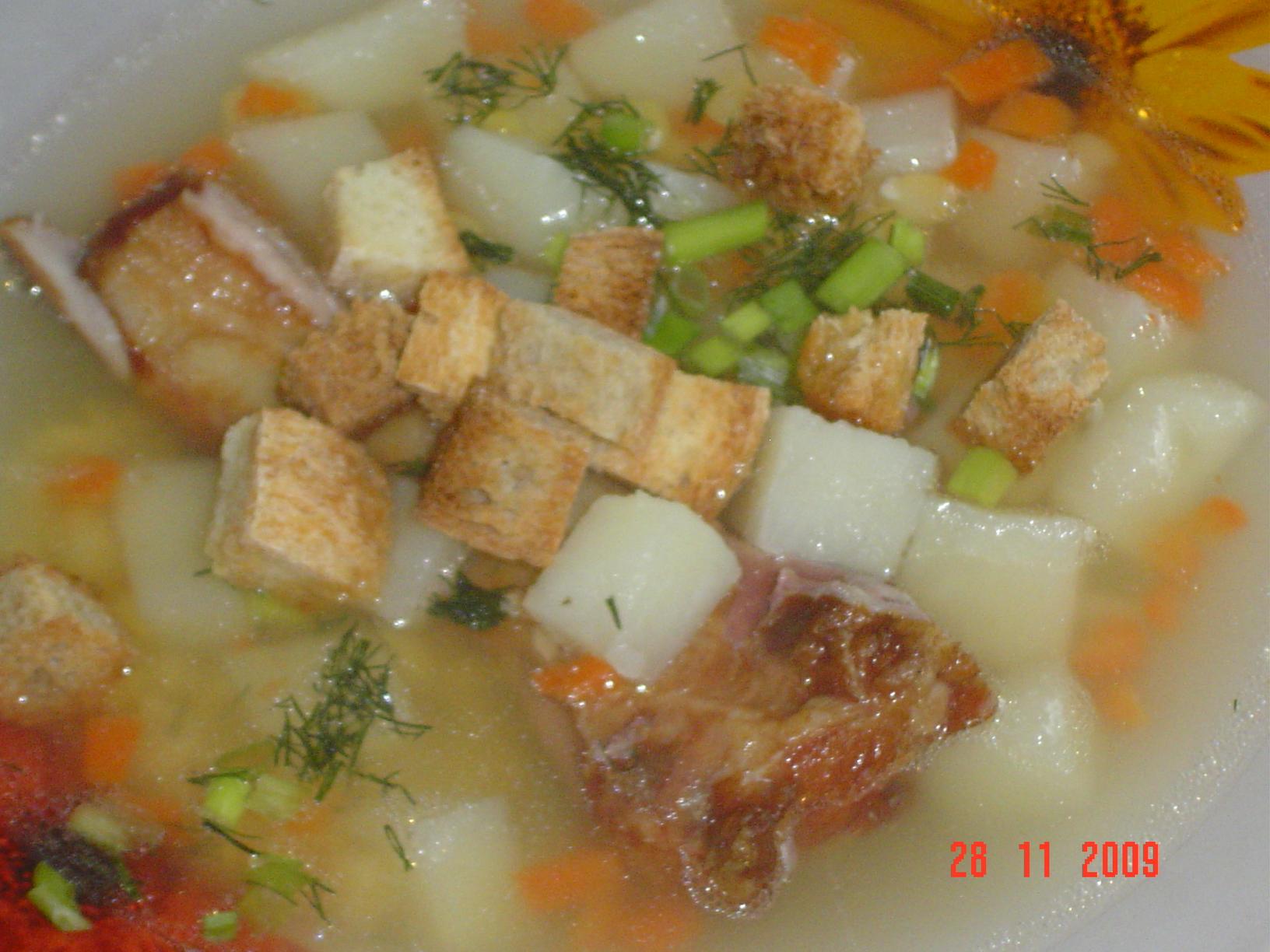 Суп гороховый с копченостями курицы пошаговый рецепт
