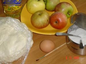 булочки с яблоком.ингредиенты