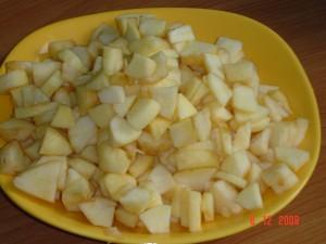 булочки с яблоком.шаг 1