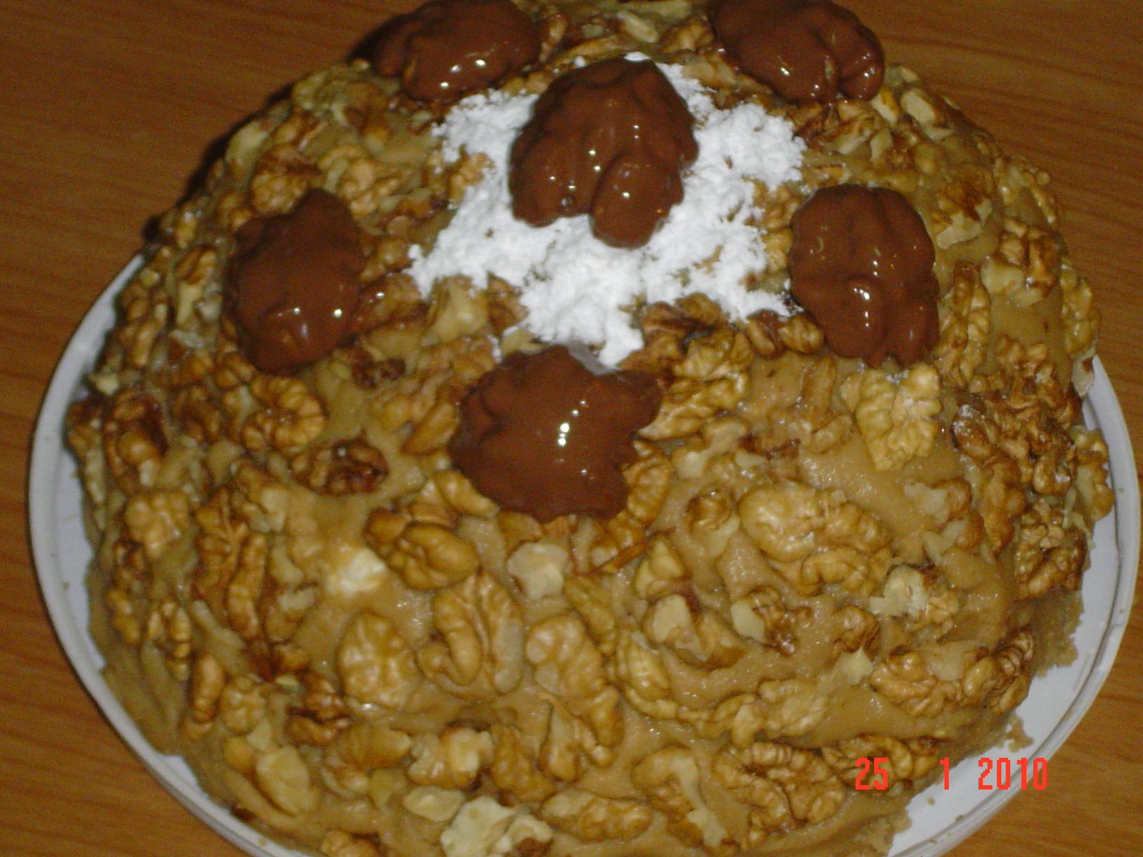 Торт с грецкими орехами рецепт пошагово в домашних условиях