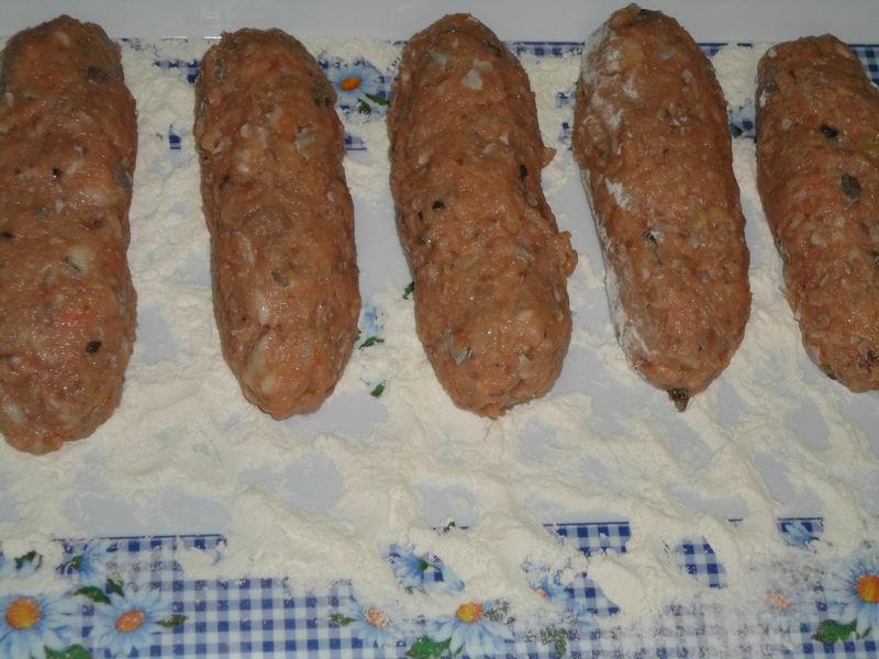 делаем рібніе колбаски