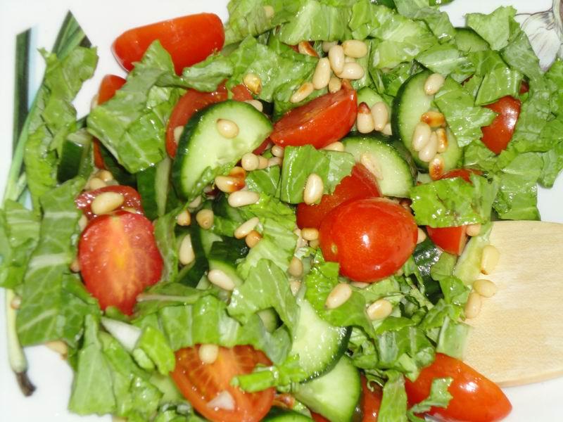 Овощные салаты с кедровыми орешками рецепты 118